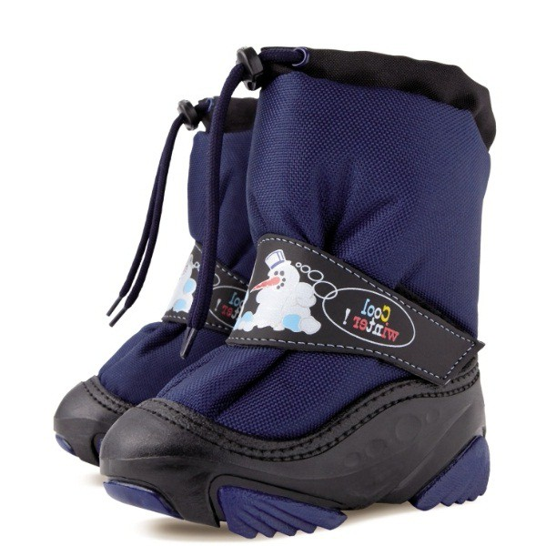 Модель: 4010 синий Сноубутсы детские
