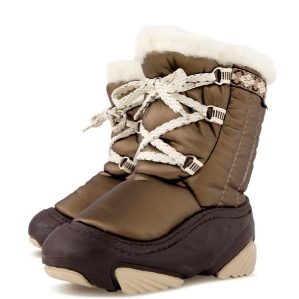 Модель: 4019 коричневый Сноубутсы детские