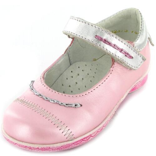 Модель: 432010-22 розовый+серебро Туфли дошкольные