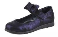 """Модель: 43190 (C) синий Туфли для девочки, натуральная кожа """"Шаговита"""" - Det-os.ru - Детская обувь интернет магазин Котофей, Лель, Nordman, Тотто"""