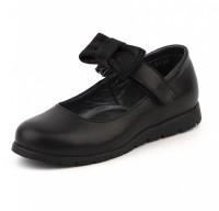 """Модель: 43190 (C) чёрные Туфли для девочки, натуральная кожа """"Шаговита"""" - Det-os.ru - Детская обувь интернет магазин Котофей, Лель, Nordman, Тотто"""