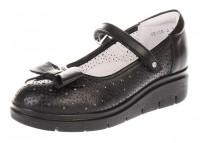 """Модель: 5-523322004 чёрные Туфли для девочек школьные, натуральная кожа """"Elegami"""" - Det-os.ru - Детская обувь интернет магазин Котофей, Лель, Nordman, Тотто"""