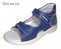 """Модель: 1144-кп синий Сандалии для мальчиков, кожаные """"Тотта"""" - Det-os.ru - Детская обувь интернет магазин Котофей, Лель, Demar, Топ-Топ."""
