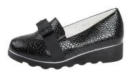 """Модель: AC112062 чёрные Туфли - лоферы подростковые, женские """"Leopard Kids"""" - Det-os.ru - Детская обувь интернет магазин Котофей, Лель, Nordman, Тотто"""