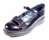 """Модель: 63214 черный Туфли школьные натуральная кожа (лакированная """"Шаговита"""" - Det-os.ru - Детская обувь интернет магазин Котофей, Лель, Nordman, Тотто"""