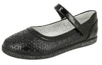 """Модель: 8255-6 (C) черные Туфли для девочек школьные """"Kenka"""" - Det-os.ru - Детская обувь интернет магазин Котофей, Лель, Nordman, Тотто"""