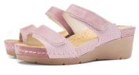 """Модель: 1040 розовые Сабо женские """"Leon"""" - Det-os.ru - Детская обувь интернет магазин Котофей, Лель, Nordman, Тотто"""