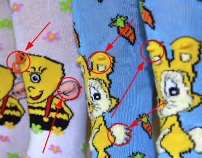 Детские колготки и носки с вышивкой 3D